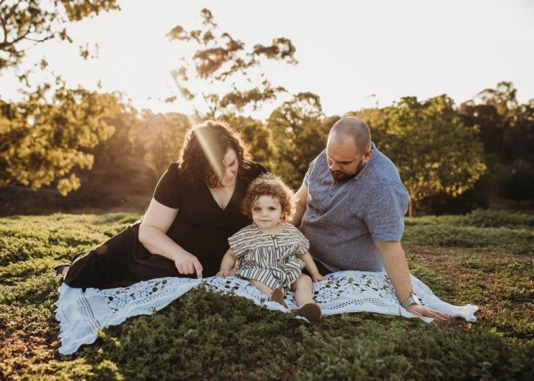 Melbourne Family Photographer. Family photography at sunset.
