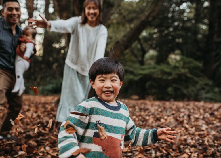 Melbourne family photography during autumn and winter